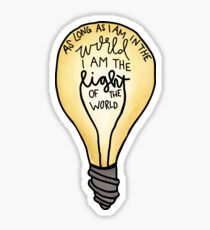 Light of the world Sticker