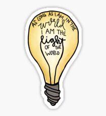 Light of the world Sticker