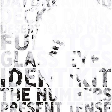 Radiohead - A Moon Shaped Pool Album Song List T-Shirt #1 by joshwaites
