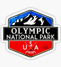 OLYMPIC NATIONAL PARK WASHINGTON 1938 HIKING CAMPING CLIMBING MOUNTAINS Sticker