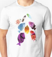 Fish shaped Flowers Unisex T-Shirt