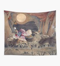 Running With Monsters - Kitsune Fox Yokai  Wall Tapestry