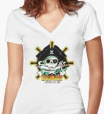 The Goonies - Never Say Die White Variant Women's Fitted V-Neck T-Shirt