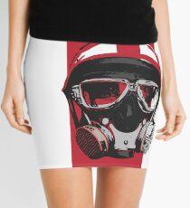 Gasser-Red Mini Skirt