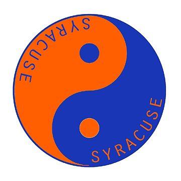 Syracuse University Yin Yang by katedylan