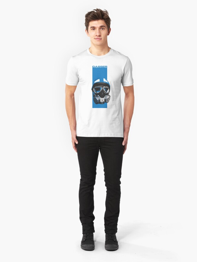 Alternate view of Gasser-Blue Slim Fit T-Shirt