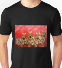 Zebra Collage Unisex T-Shirt