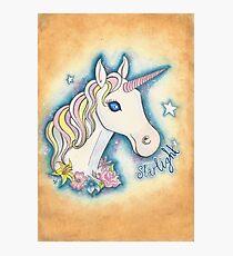 Starlight the Unicorn Photographic Print