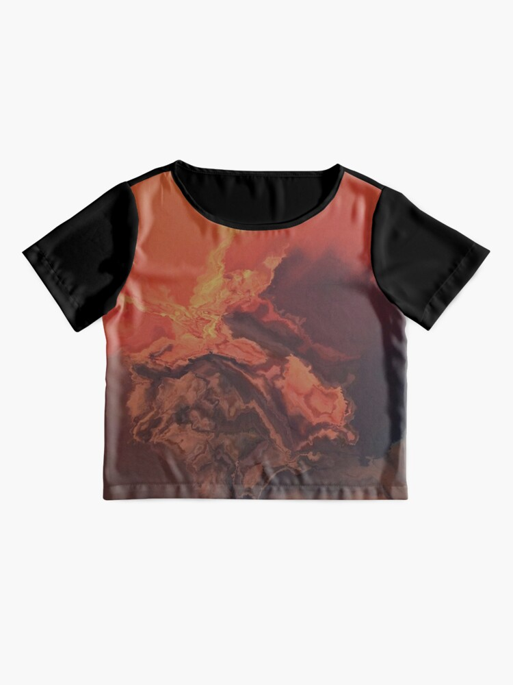 Alternate view of Fire on the Mountain Chiffon Top