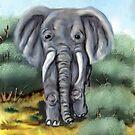 Elephant Digital Painting by WildestArt
