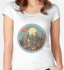 philadelphia panorama 3 Women's Fitted Scoop T-Shirt