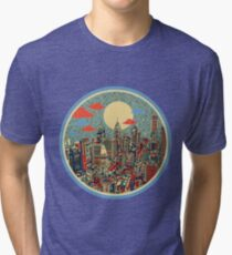 philadelphia panorama 3 Tri-blend T-Shirt