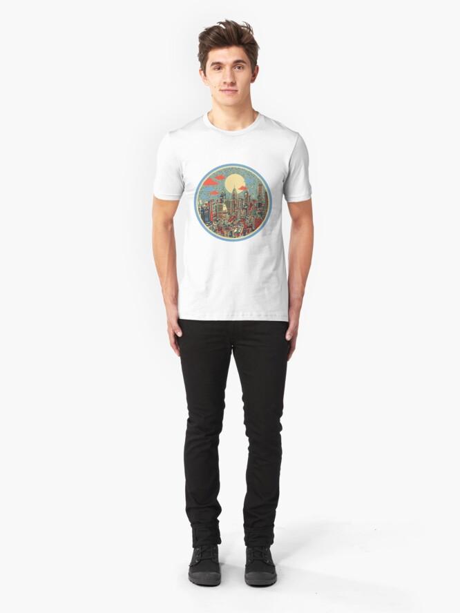Alternative Ansicht von Philadelphia-Panorama 3 Slim Fit T-Shirt