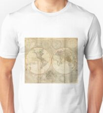 Vintage Map of The World (1799) 2 Slim Fit T-Shirt