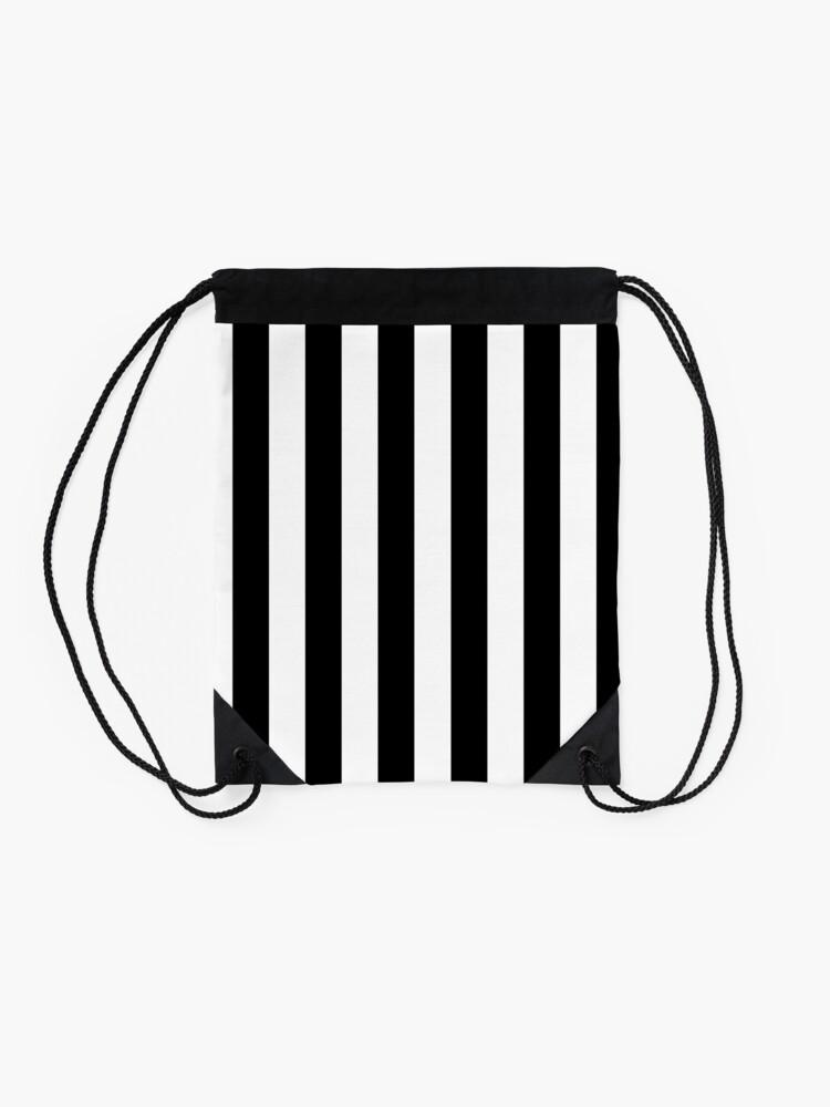 Alternate view of More Stripes  Drawstring Bag