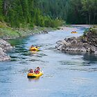 Rafting down the river by Ian Berry