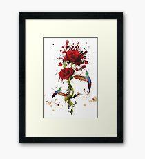 Lovely - Splatter Framed Print