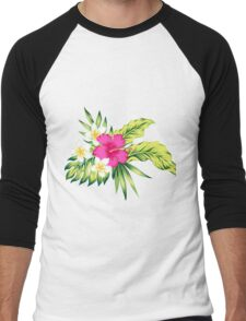 Hot Pink Hibiscus & Tropical Flowers T-Shirt