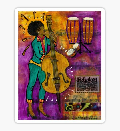 That Sistah on the Bass Sticker