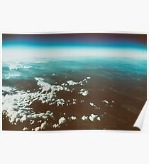 Earth Horizon Photo From 35.000 Feet Altitude Poster