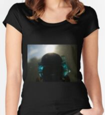 Backlit Diver Women's Fitted Scoop T-Shirt