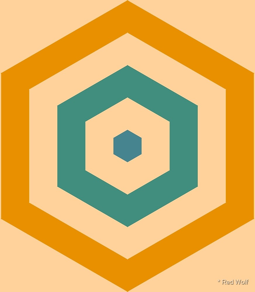 Geometric Pattern: Hexagon Hive: Lily by * Red Wolf
