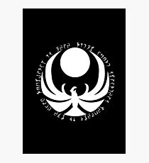 The Nightingales Symbol - Daedric writings Photographic Print