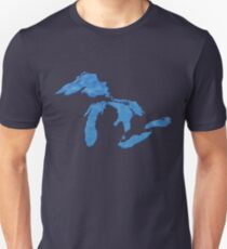 Great Lakes Blues by TeeCreations T-Shirt