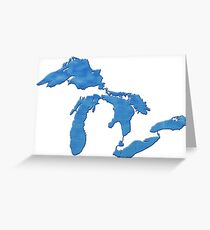 Great Lakes Blues by TeeCreations Greeting Card