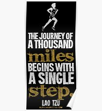 Thousand Miles Quote T-shirts & Homewares Poster