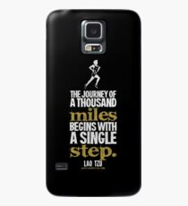 Thousand Miles Quote T-shirts & Homewares Case/Skin for Samsung Galaxy