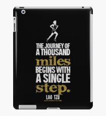 Thousand Miles Quote T-shirts & Homewares iPad Case/Skin