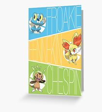 Pokemon XY Starter Greeting Card