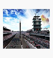 "Indianapolis 500 Start collage ""Back home again in Indiana"" Photographic Print"