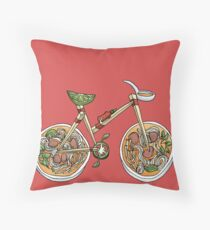 Pho Wheels Throw Pillow