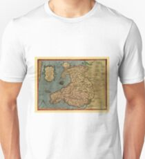 Map Of Wales 1573 Unisex T-Shirt
