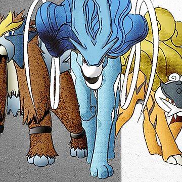 Shiny Legendary Beasts - Manga Edit by aquacarl