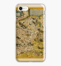 Map Of Saxony 1613 iPhone Case/Skin