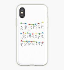 Stranger Things Alphabet Lights iPhone Case