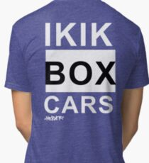 IKIKBOXCARS (inverted) Tri-blend T-Shirt