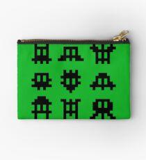 Pixel Invaders - Retro Pixelart Space Ships Studio Pouch
