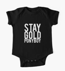 Stay Gold Ponyboy One Piece - Short Sleeve