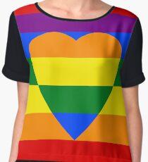 Rainbow heart Women's Chiffon Top