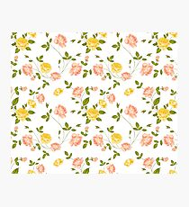 Roses, floral background, seamless pattern. Photographic Print