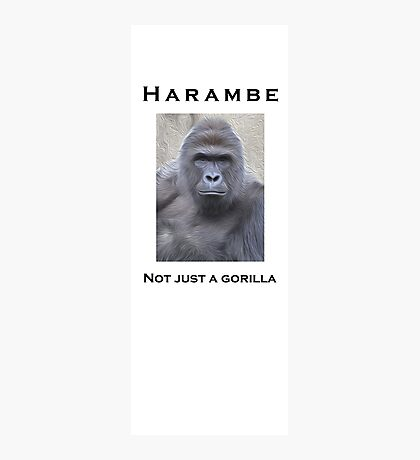 Harambe Oil Painting: Not Just a Gorilla Photographic Print
