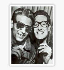 Buddy Holly and Waylon Jennings Sticker