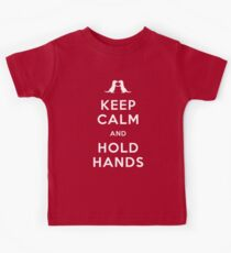 Keep Calm and Hold Hands (Otters holding hands) Kids Clothes