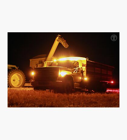 Grain Truck Lights Photographic Print