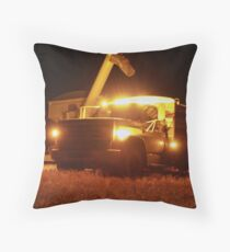 Grain Truck Lights Throw Pillow