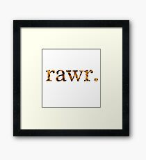 Rawr. Framed Print
